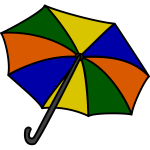 Multicolored vector illustration of an umbrella