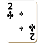 Two of clubs vector clip art