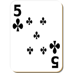 Five of clubs vector drawing
