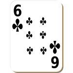 Six of clubs vector graphics