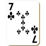 Seven of clubs vector clip art