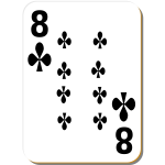 Eight of clubs vector image