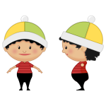Cartoon girl with hat vector clip art