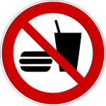 No fast food vector symbol