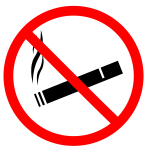 Vector image of no smoking sign label