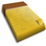 Notebook with yellow pages