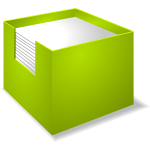 Vector drawing of notebox
