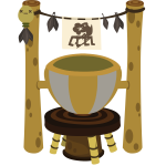 Tribal cooking pot