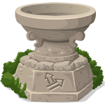 Stone shrine drawing