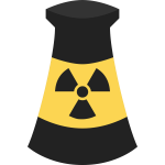 Atomic Energy plant symbol vector clip art