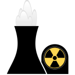 Nuclear plant black and yellow clip art