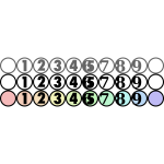 Number icons for CSS slicing