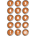 numberstickers orange