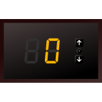 7-segments indicator. Play with buttons