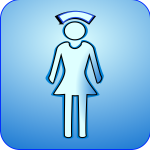 Vector symbol of medical nurse