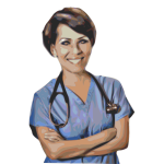 Medical nurse vector drawing