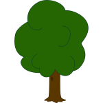 Vector graphics of younger oak tree