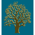 Oak tree brown silhouette vector image