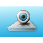 Blue eye on stand vector image