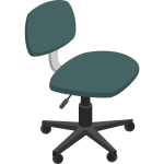 Office chair in green