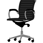 Office chair gray scale