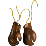 Vector graphics of antique boxing gloves