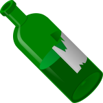 Green open bottle vector illustration