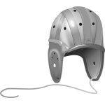 Rugby helmet grayscale vector image