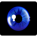 Deep blue eye