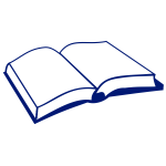 Line art vector image of book