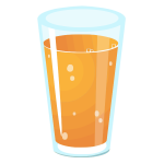 Realistic vector graphics of glass of juice