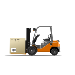 Vector illustration of forklift