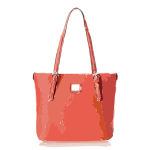 orangish leather bag