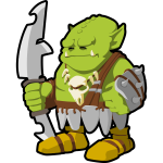 Orc warrior vector image