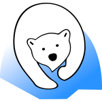 Vector graphics of polar bear sign