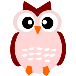 Cute owl vector drawing