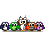 Cute owles cartoon art