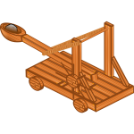 Catapult device vector image