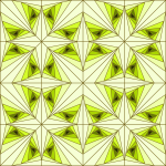 Triangular pattern in green color