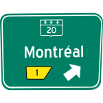 Montreal exit traffic sign vector illustration