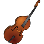 Vector image of double bass instrument