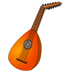 Lute instrument vector image