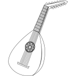 Vector illustration of lute