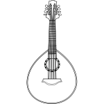 Mandolin vector line drawing