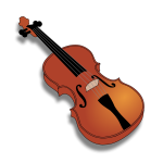 Vector image of violin