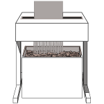Paper shredder vector image