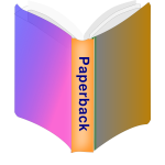 Paperback book icon vector image