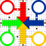 Parchis board vector image