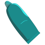 Vector graphics of toothpaste in turquoise tube
