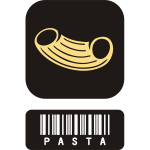 Pasta icon vector drawing